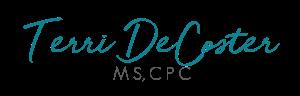 Terri DeCoster, MS CPC Logo